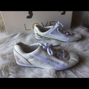 Coach Myla Nylon Suede Sneaker